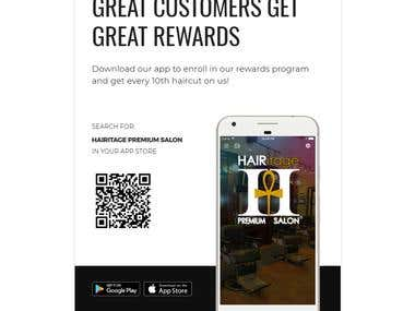 Hairitage Premium Salon Mobile App