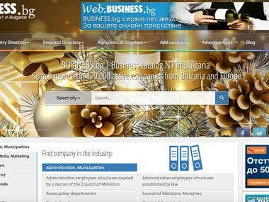 Web business portal