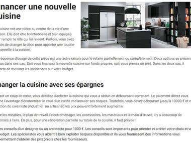 Financer une nouvelle cuisine