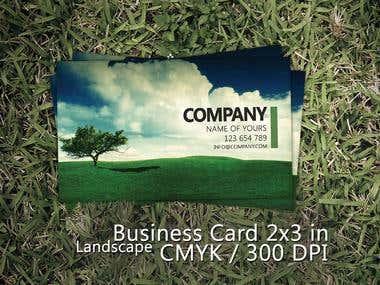 Business card . (company landscape BC_2x3 )