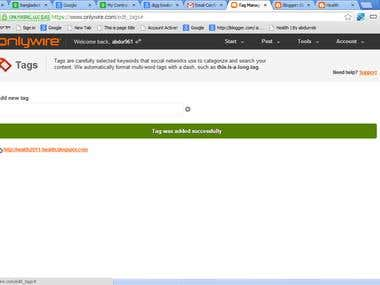 Demo of bookmarking site( link spearing step)