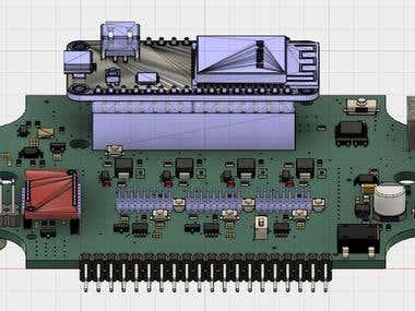 Autodesk_Fusion360_PCB 3D modeling