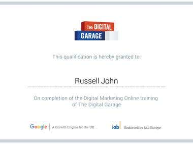 Digital Marketing Certification from The Digital Garage