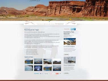 Tourism, mock-up + CMS
