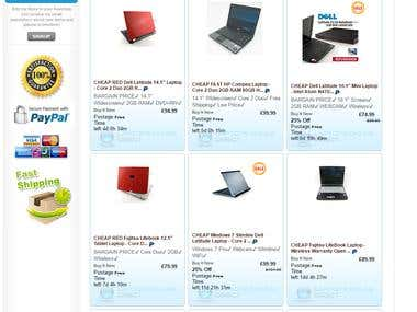 Full eBay store and listing template