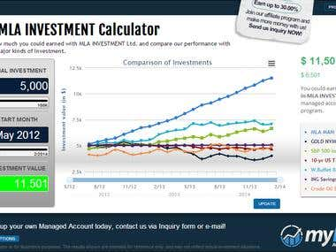 jQuery/JavaScript - Investment calculator wordpress plugin