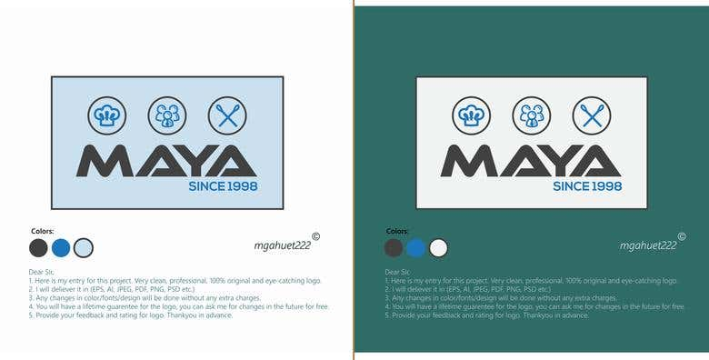 Maya Restaurant Logo Design | Freelancer
