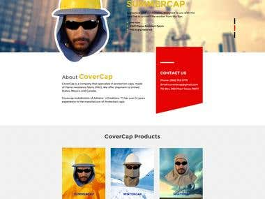 Covercap website design