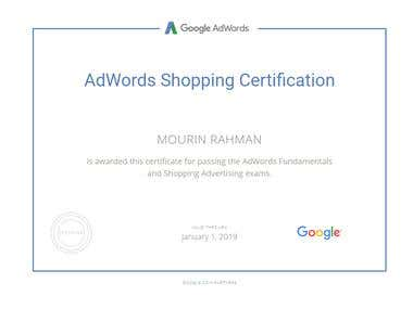 Google AdWords Shopping Certification