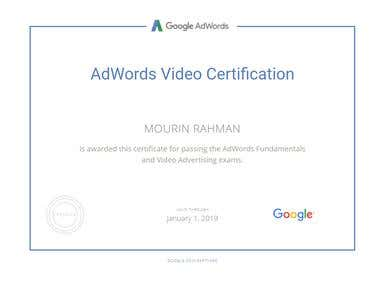 Google AdWords Video Certification