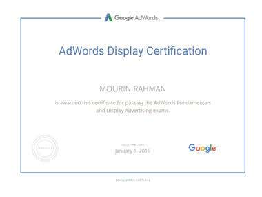 Google AdWords Display Certification