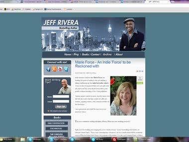 Jeff Rivera personal page