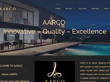 Aarco Interior design company Website