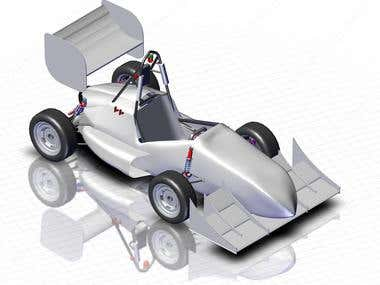 Rendered image of FSAE Car