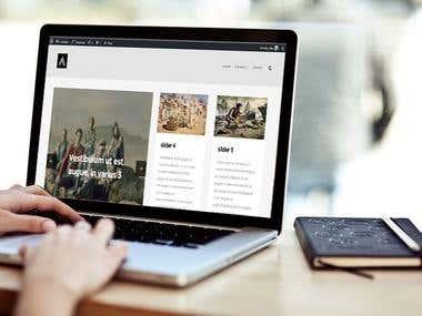 Articles wordpress website