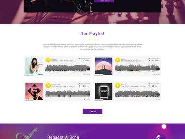 Radio website Mockup