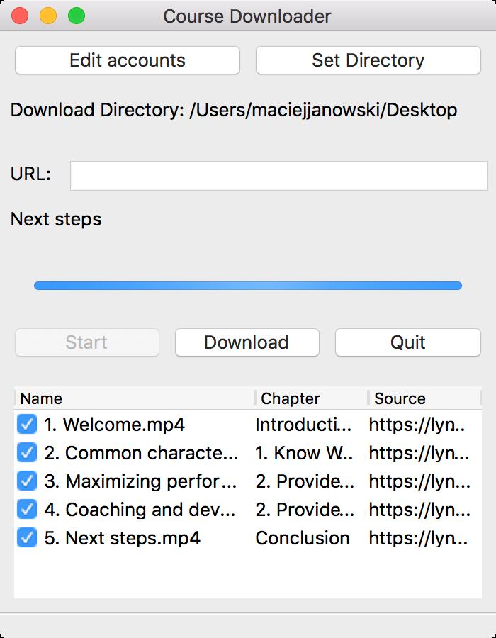 Python gui app video courses downloader   Freelancer