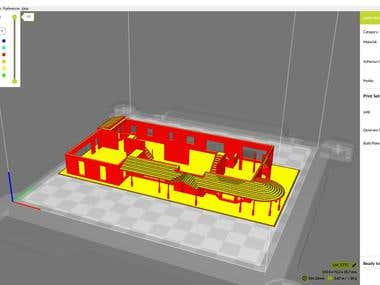 House model for 3d printing