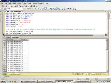 Writing SQL query