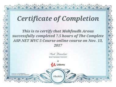 The Complete ASP.NET MVC 5 Course Completion Course