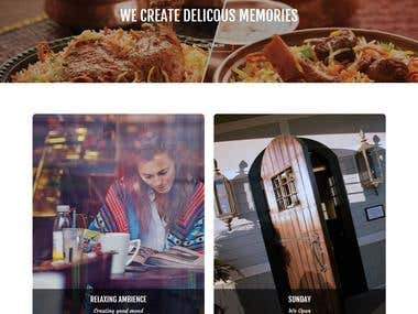 Develop website for Restaurant