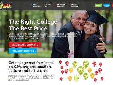 MVC - Design & Development :- Collegeraptor.com