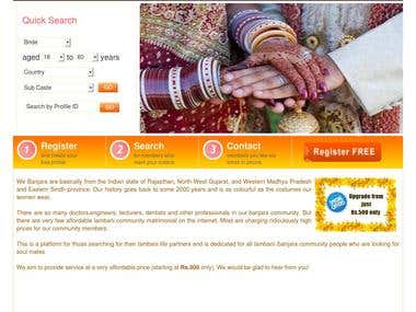 Online Marriage website