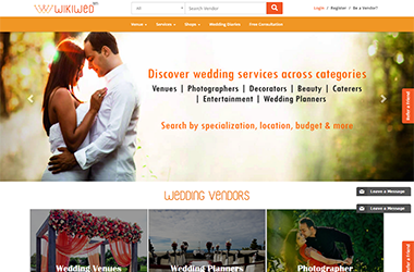 WiKiWed - Wedding vendor & Business site