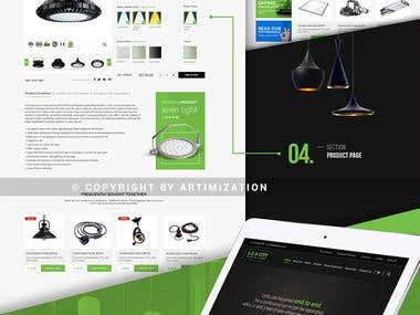 Website REDESIGNING LEDCITY.