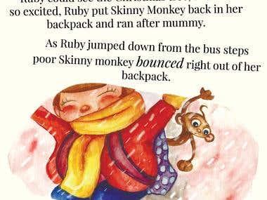 Ruby & the skinny monkey The Christmas Wish