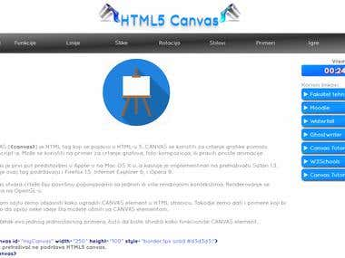 Website - HTML5 Canvas API