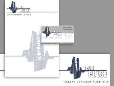 TechPulse Banner,Cover,Visiting card Design