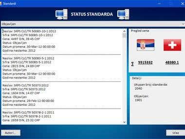 Standards listing