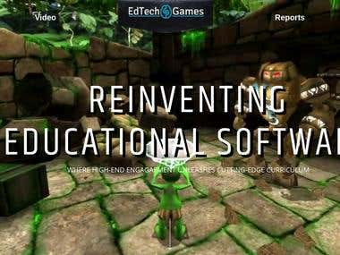Edtech-Games | Landing Page