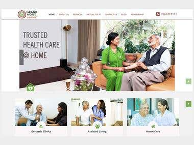 Grand World Elder Care - Elder care & service provider site