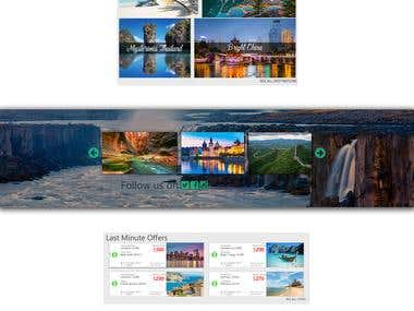 Slider type website design