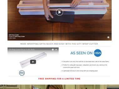 Gift cutter WooCommerce website