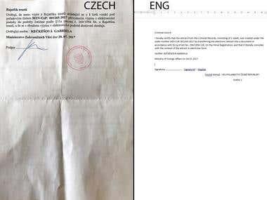 Fast Czech English translation