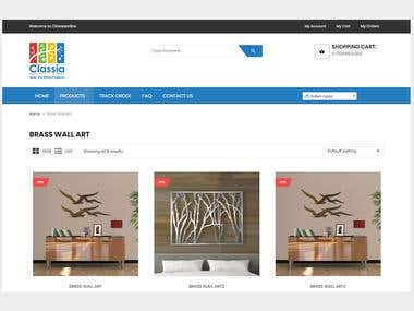 Classia - E-commerce Interior design site