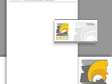 Aditya Latterpad,Envelope ,Visiting card design