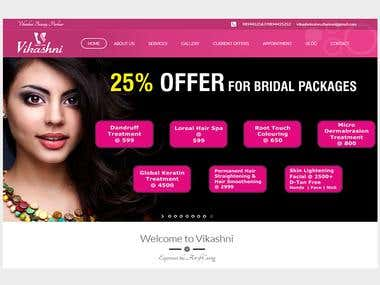 Vikashni Beauty Parlour - Grooming beauty Site