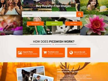 Creativity marketplace for photgraphers, graphic designer