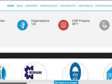 Biggest platform for CSR organisations, projects