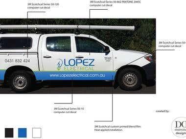 Vehicle wrap signage design