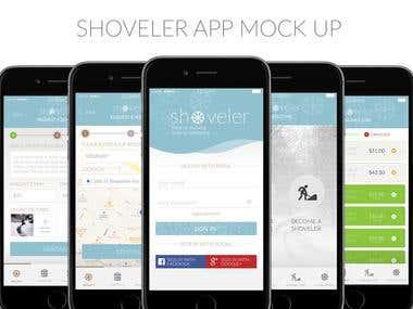 Shovler App Design