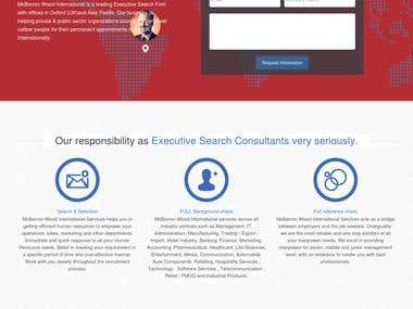 Landing Page for Recruitment agency Lead Generation UK
