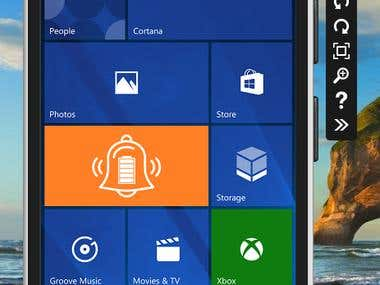 Battery Level Alarm - A Windows Store Application (UWP)
