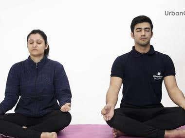 Urban Clap's Yoga Trainer promotion