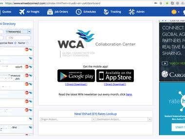 WIN Web App Maintenance