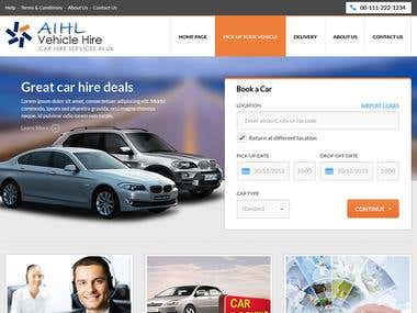 Vehicle Hire Website
